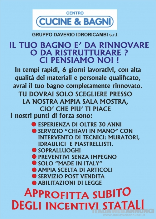 Ristrutturazione bagni, Jerago, Albizzate, Sumirago, Carnago, Besnate, Gallarate, Varese