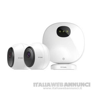 D-Link mydlink Pro Wire Free IP Cam Kit 2MP IR Wi-Fi Bianco