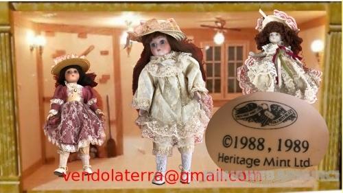 3 bambole in porcellana della Heritage Mint Limited Collection