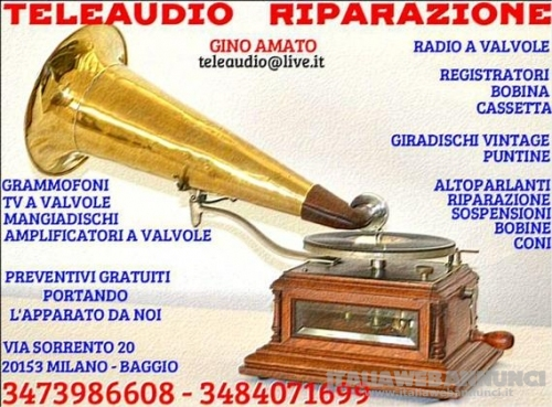Riparazione Radio d'epoca-Grammofon-Amplificatori