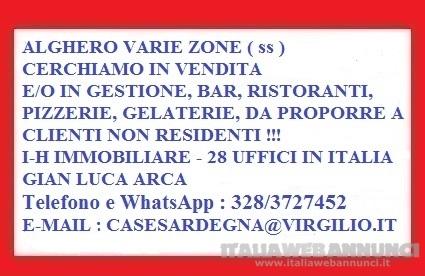 Alghero cerco in Vendita o Gestione Attivita' Bar Ristorante per Clienti Non Residenti !!!
