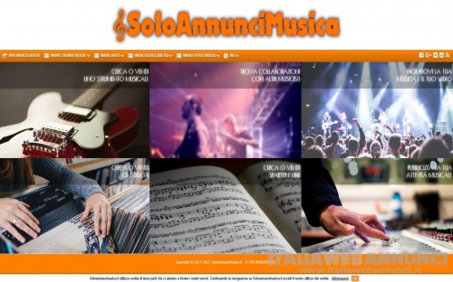 Annunci musicali gratuiti per tutti! www.SoloAnnunciMusica.it