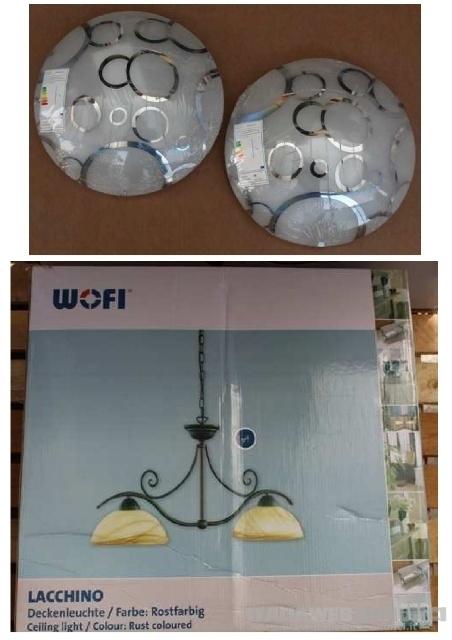 Stock lampadari e illuminazione 826 pezzi