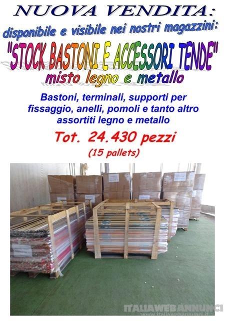 Stock bastoni e accessori tende
