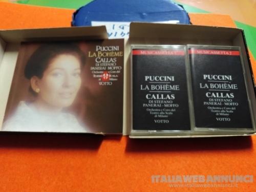 COFANETTO 2 MUSICASSETTE LA BOHE'ME di PUCCINI