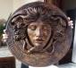 Medusa scultura color bronzo ottocento 60 cm