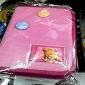 ORSACCHIOTTO astuccio portacolori 3 zip rosa