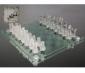 Scacchiera scacchi in vetro