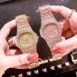 Diamond Watch orologio al quarzo tempestato di zaffiri bianchi incastonati a mano